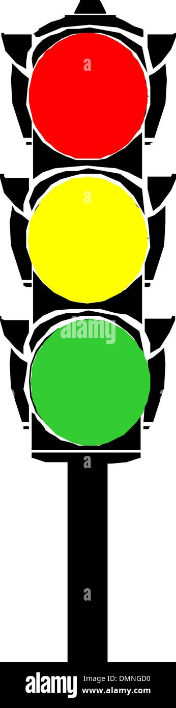Semaphore or traffic lights Stock Vector
