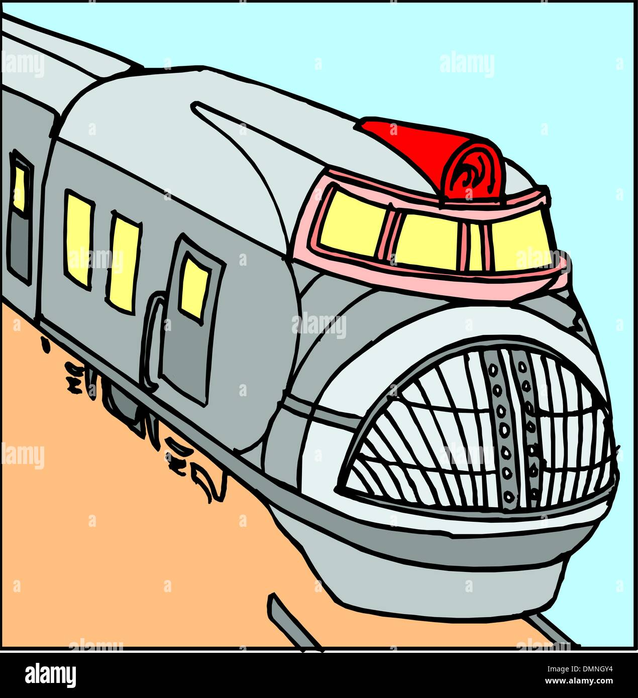 Speed train - Stock Vector