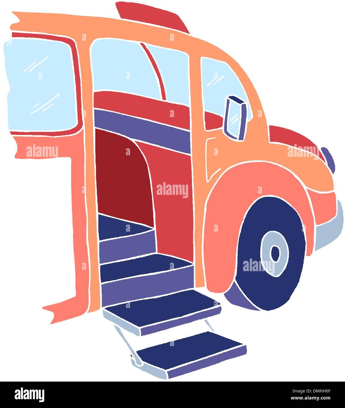 Isometric  bus - Stock Image