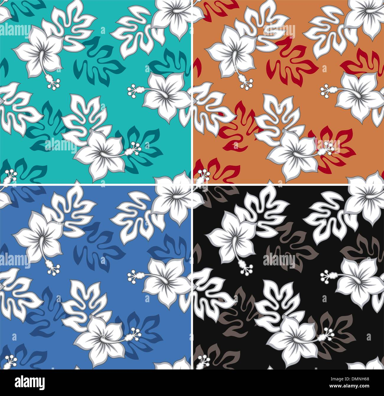 Hibiscus Flower Stock Vector Images Alamy