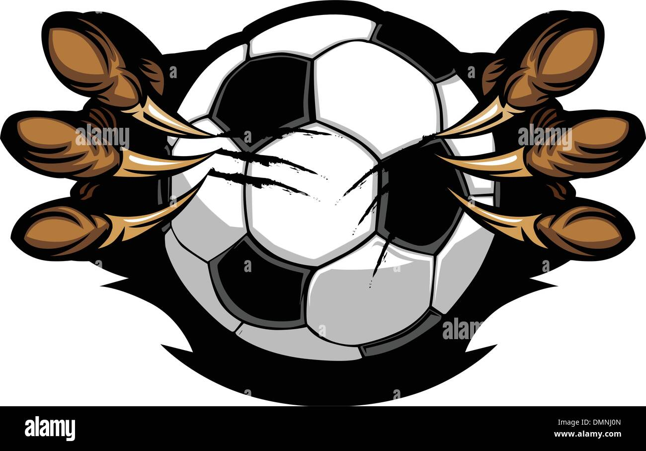Soccer Ball With Eagle Talons Vector Image - Stock Image