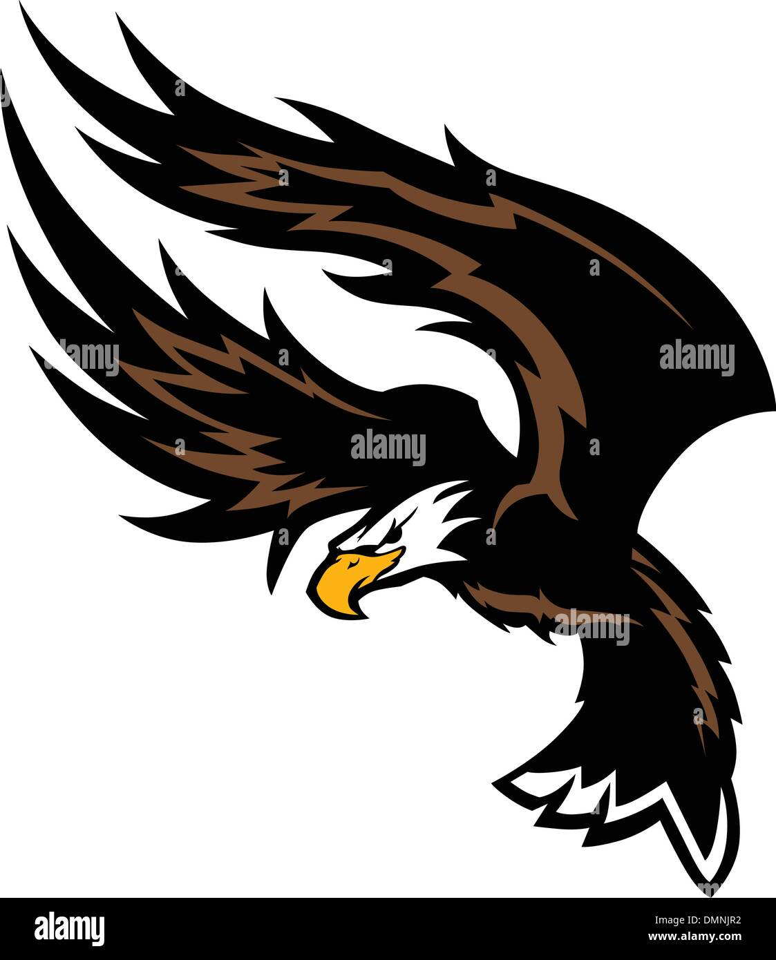 flying eagle wings mascot design stock vector image art alamy https www alamy com flying eagle wings mascot design image64399974 html