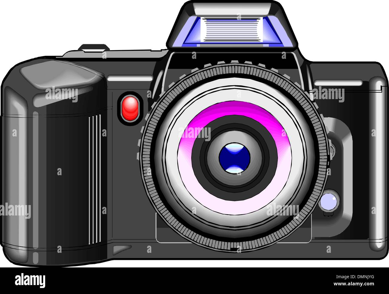 Professional slr camera Stock Vector