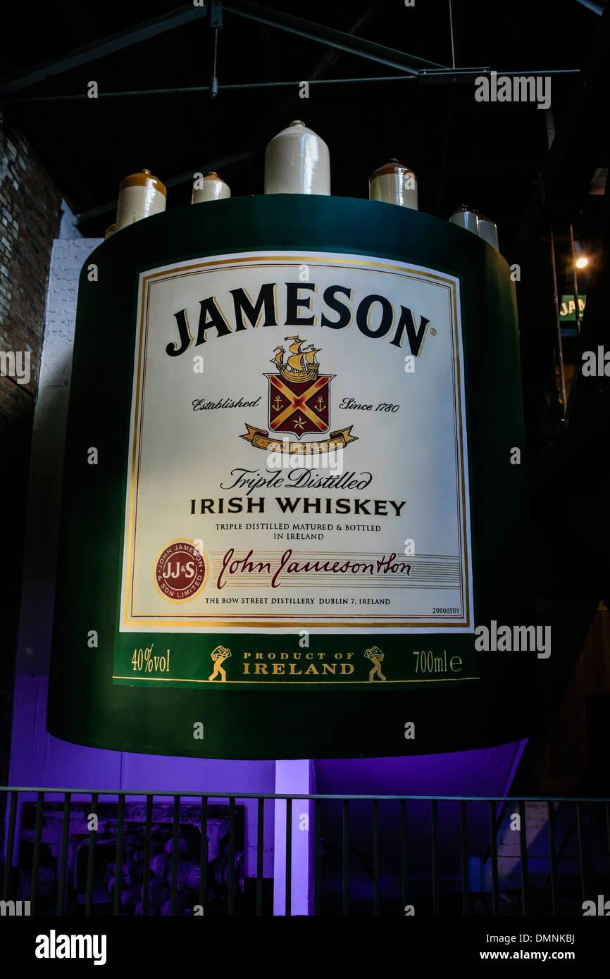 Inside the old factory at Jameson Irish Whiskey Distillery in Dublin Ireland - Stock Image