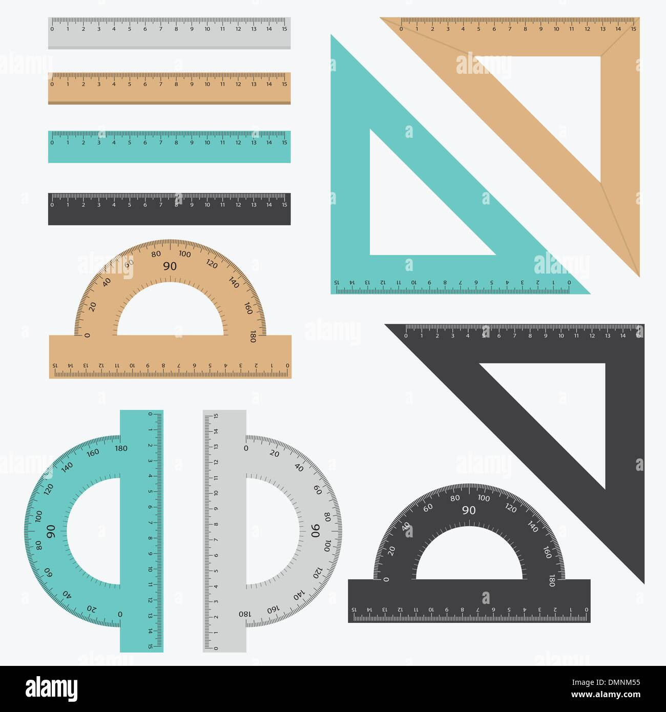 Set of rulers. - Stock Vector