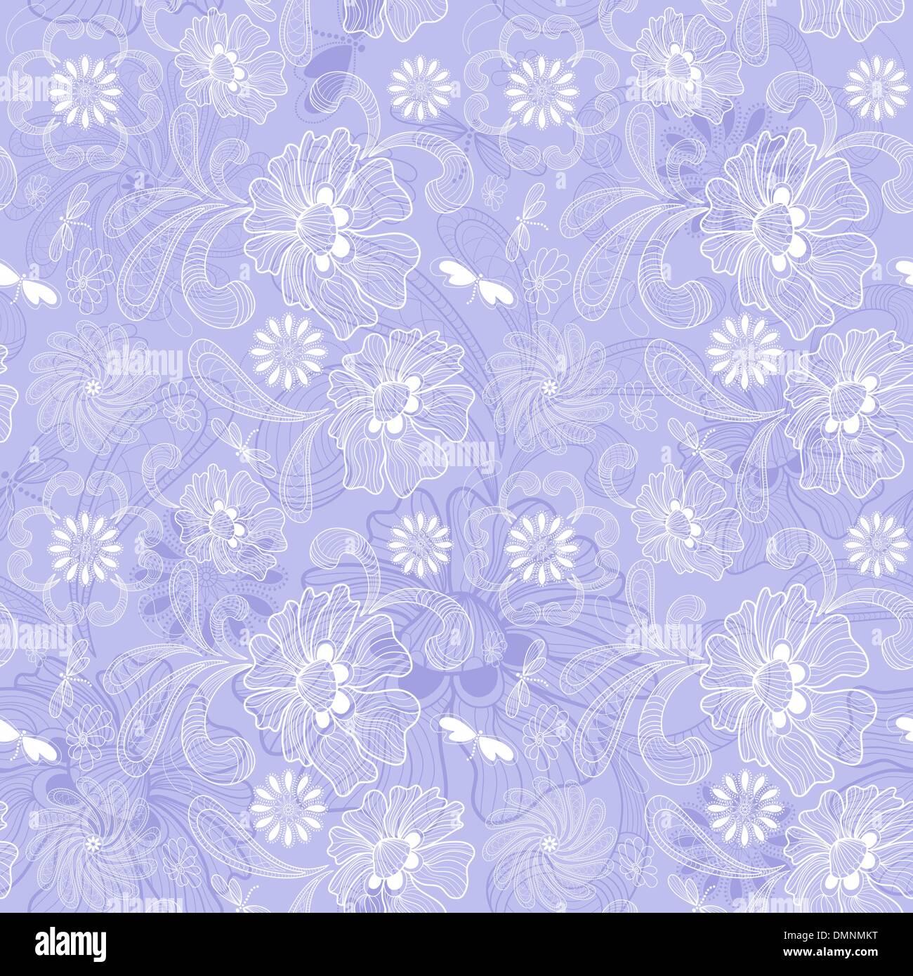 Gentle seamless pattern - Stock Image
