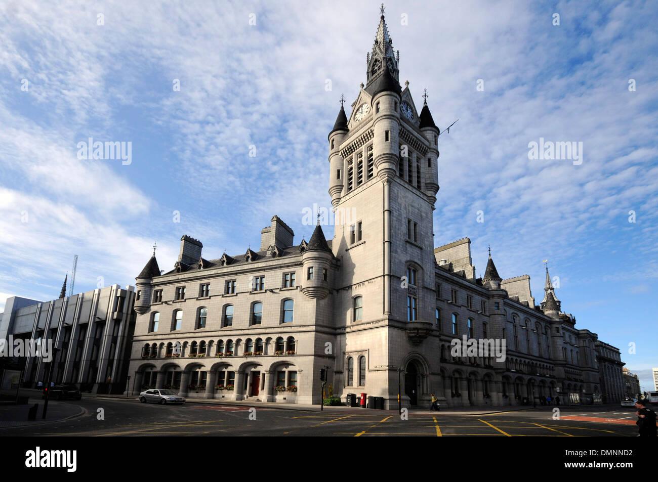 iconic townhouse union street aberdeen - Stock Image