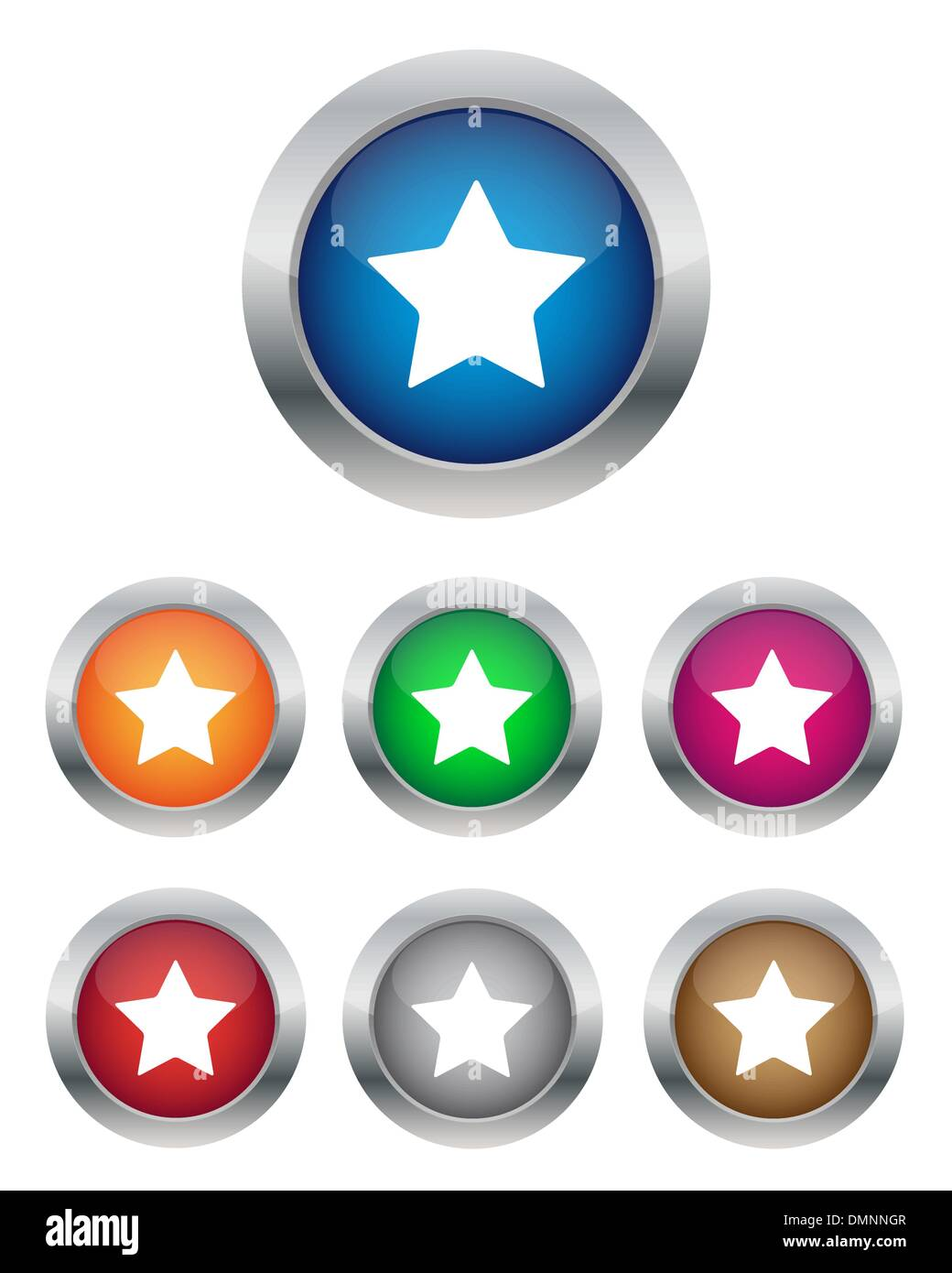 Star buttons - Stock Image