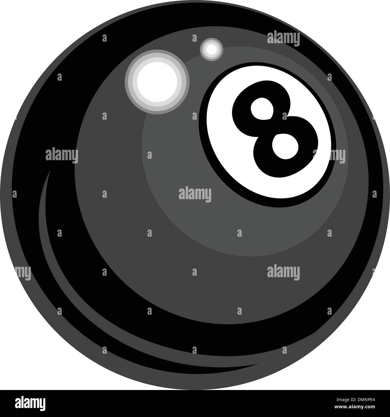 Billiards Eight Ball  Vector Design - Stock Image