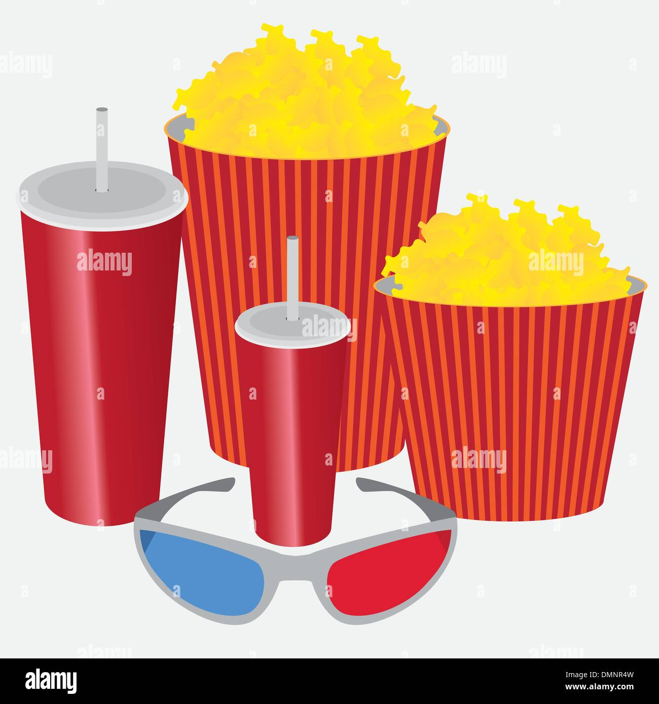 3D cinema. - Stock Vector