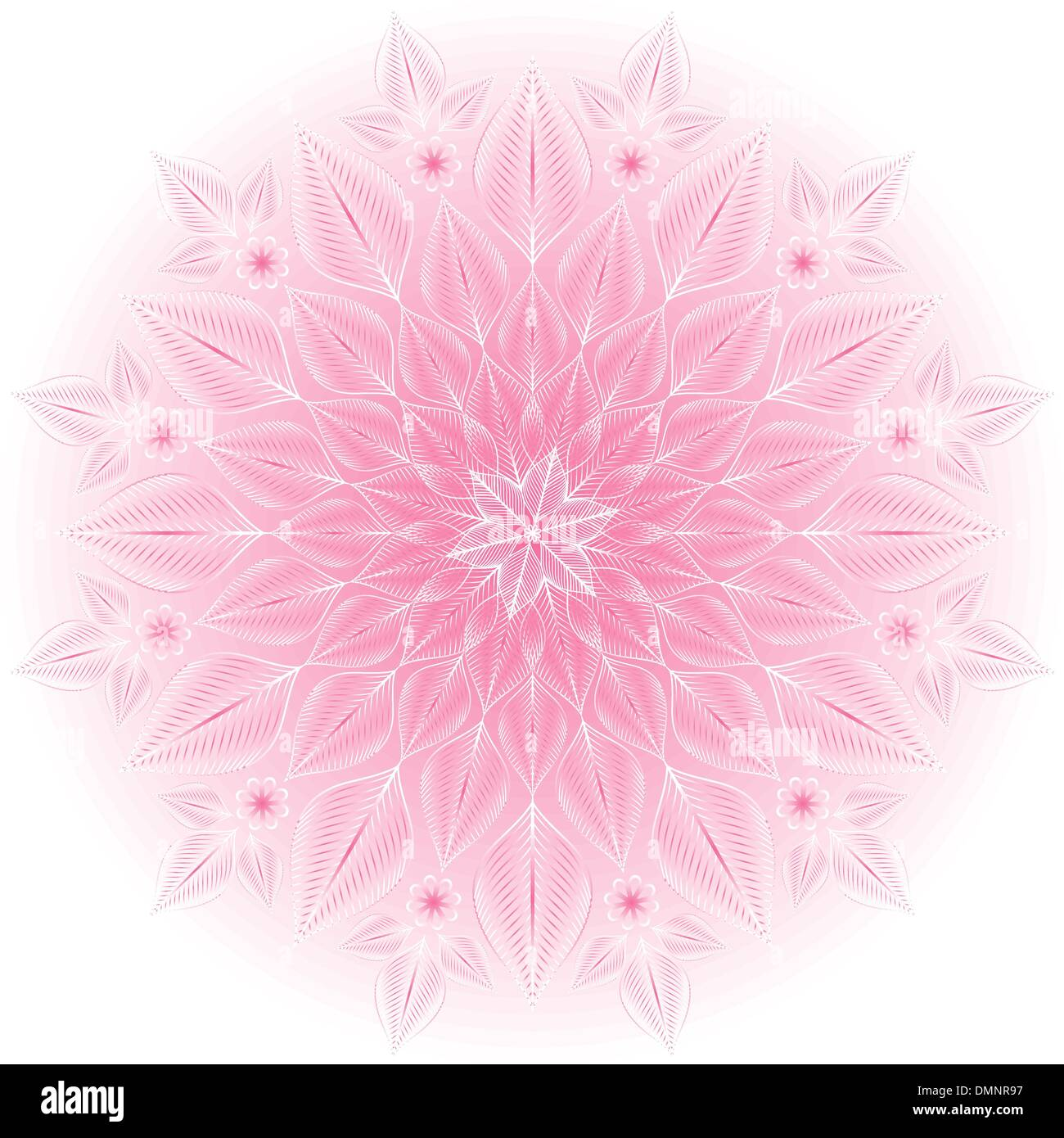 Gentle pink-white frame - Stock Image