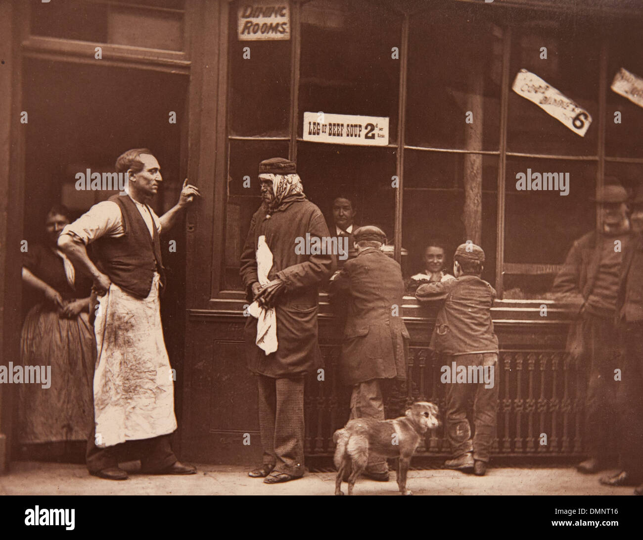 Photograph showing 'A convicts home' in the Street Life in London book - Stock Image
