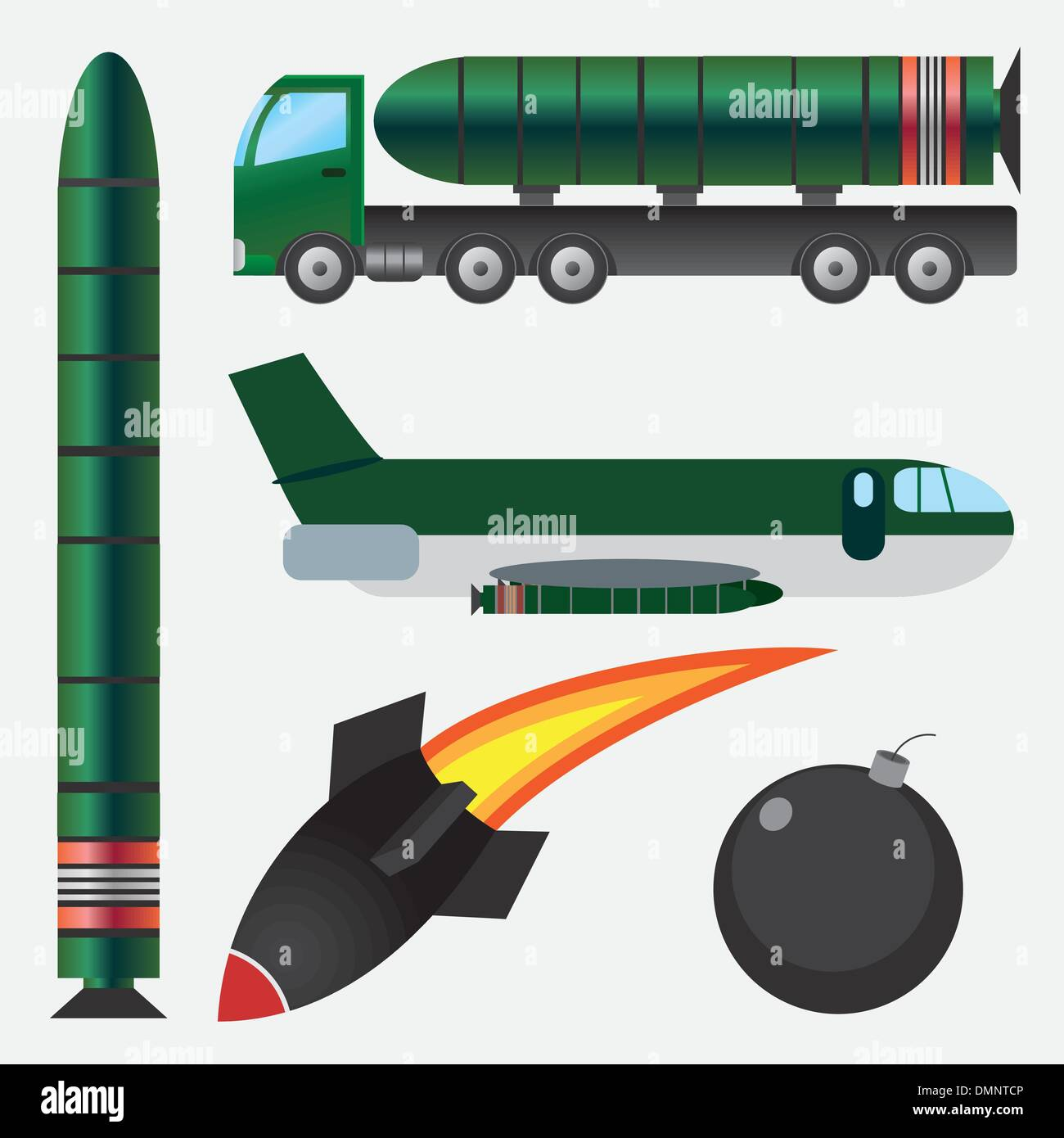 Bombs and missiles. - Stock Image