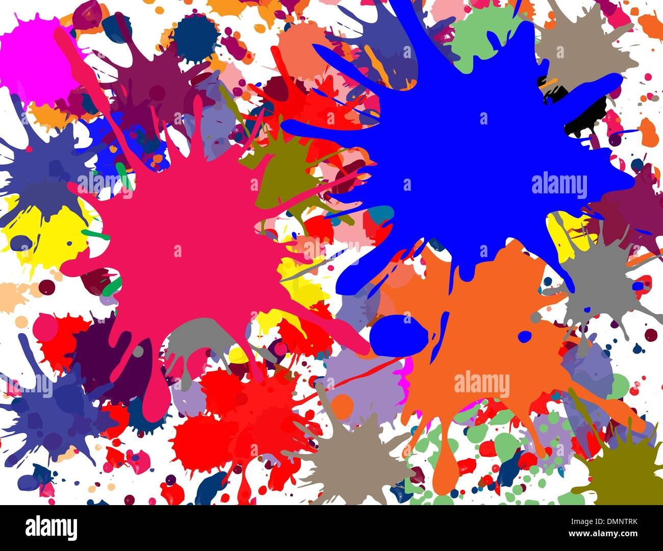 Multi-colored splashed - Stock Vector