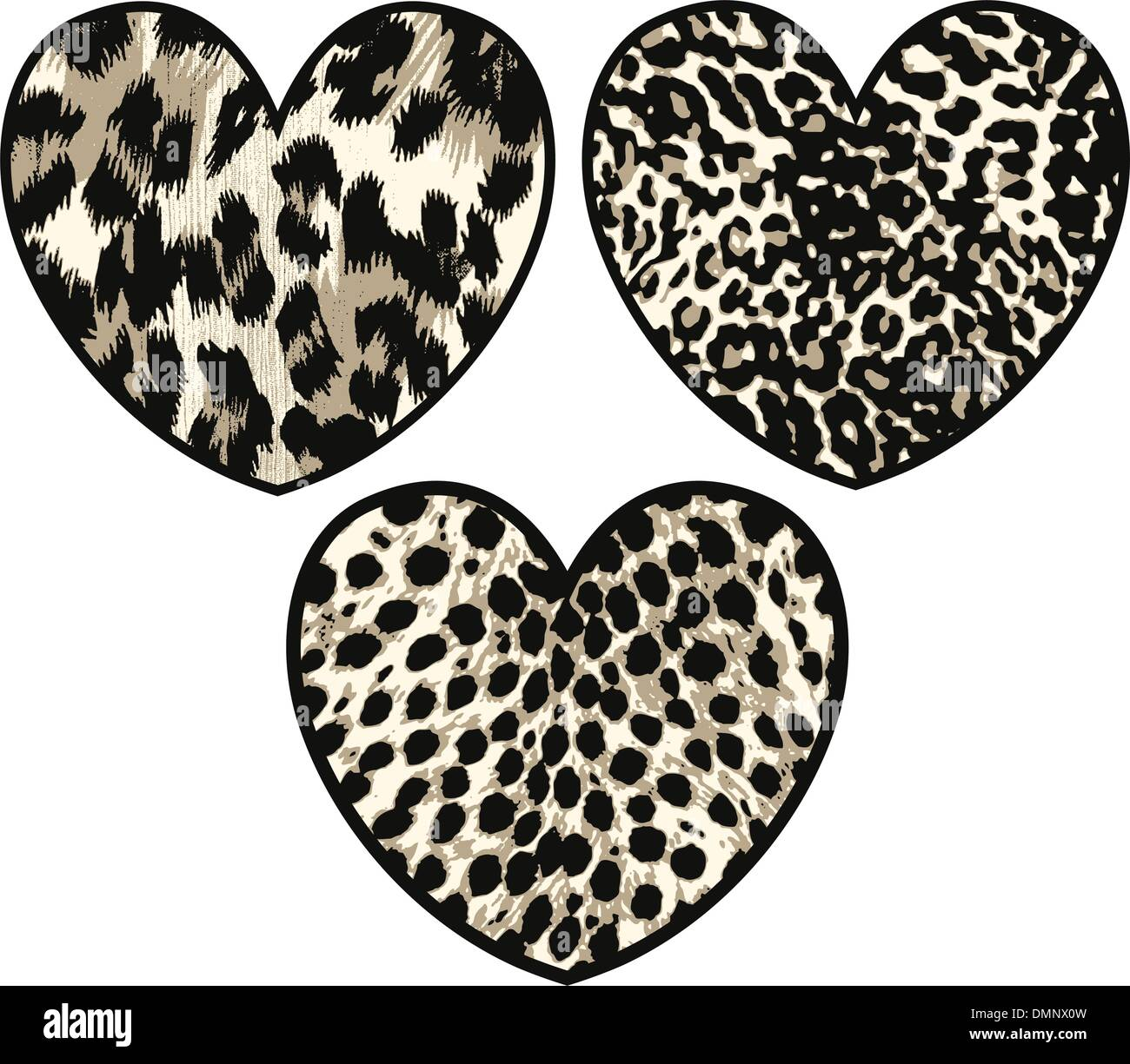 heart with animal skin - Stock Vector