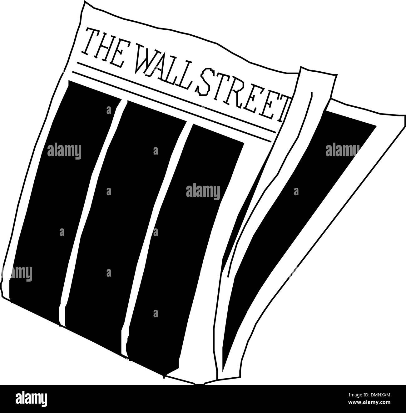 Newspaper wall street - Stock Image
