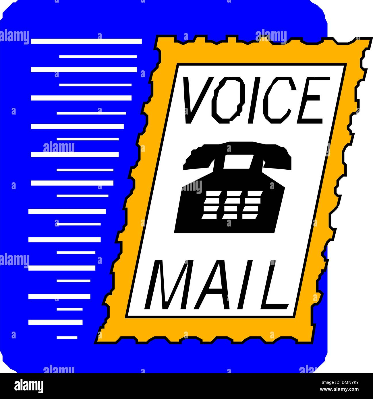 voice mail - Stock Vector