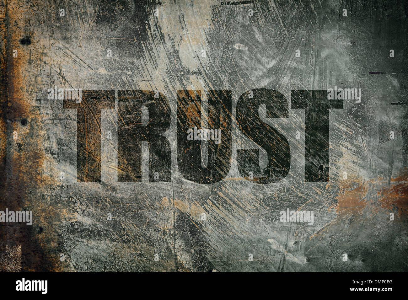 grunge trust - Stock Image