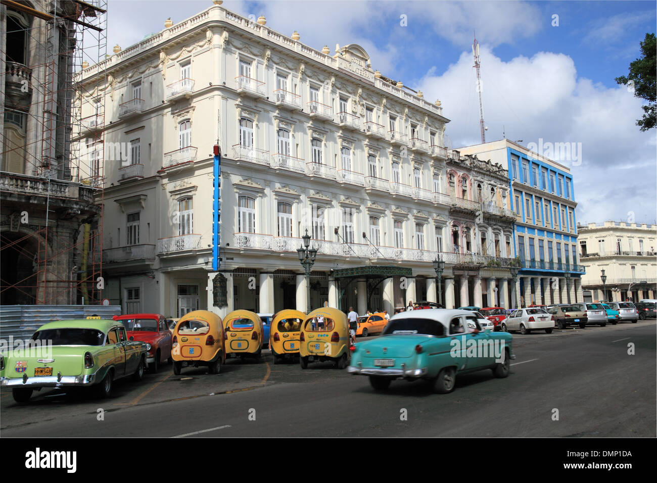 Hotel Inglaterra, Paseo de Martí (aka Paseo del Prado), Old Havana (La Habana Vieja), Cuba, Caribbean Sea, Central America - Stock Image