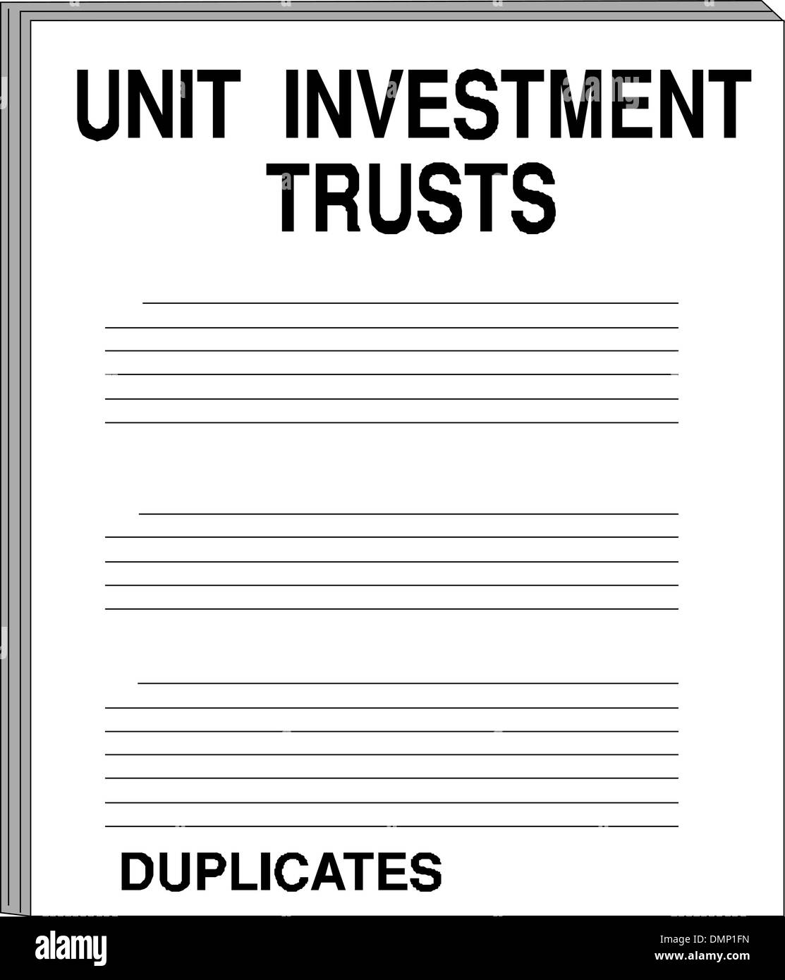 Unit investment trusts - Stock Vector