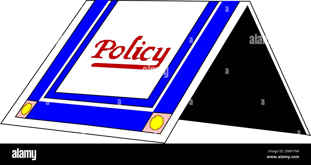 policy - Stock Vector