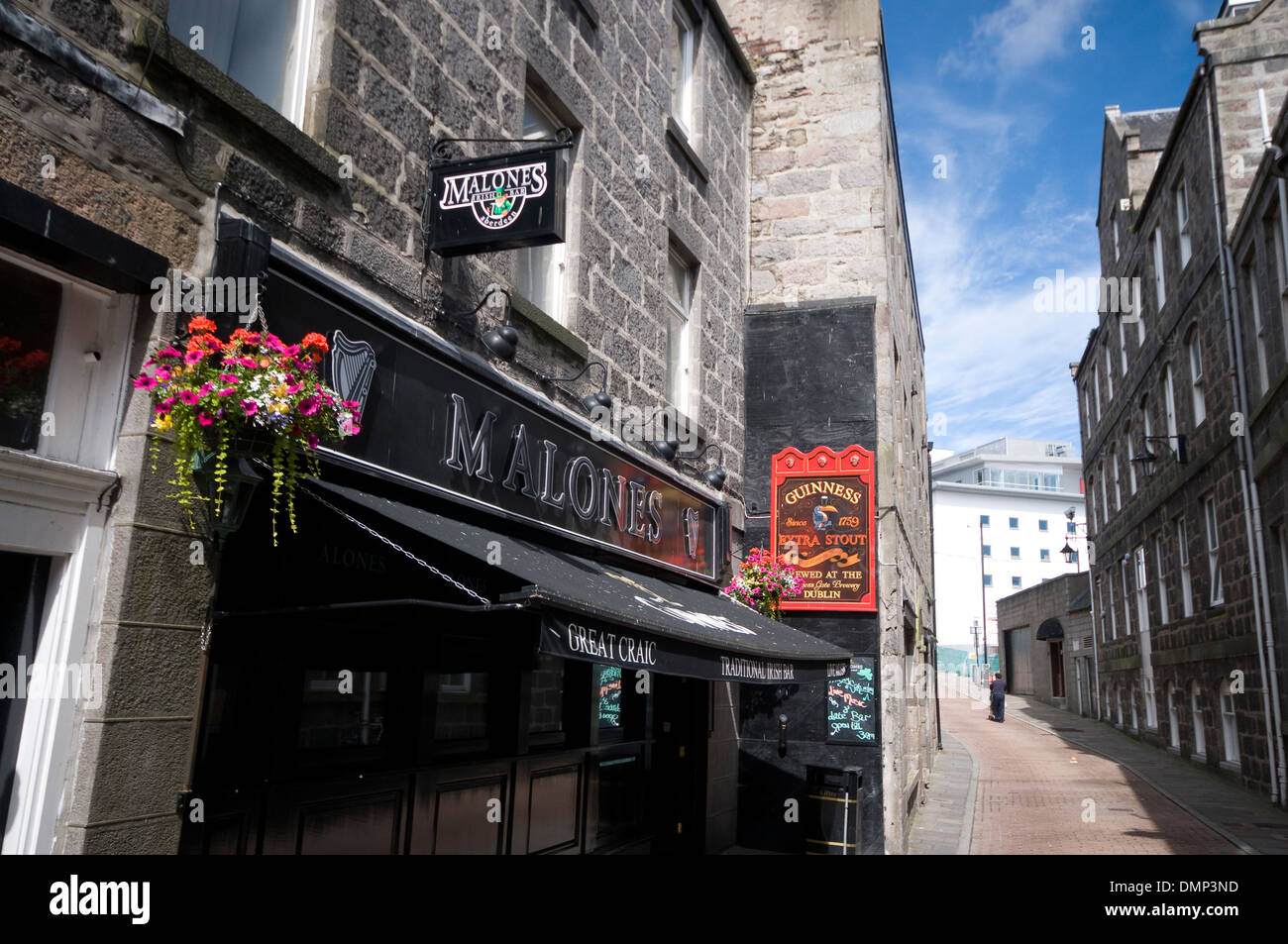 oil industry scotland north east malones pub - Stock Image