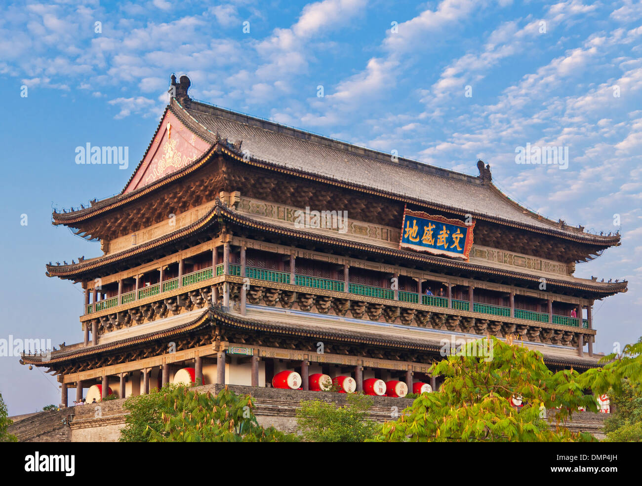 Anding gate or West gate tower on the city walls Xian Shaanxi Province, PRC, People's Republic of China, Asia - Stock Image
