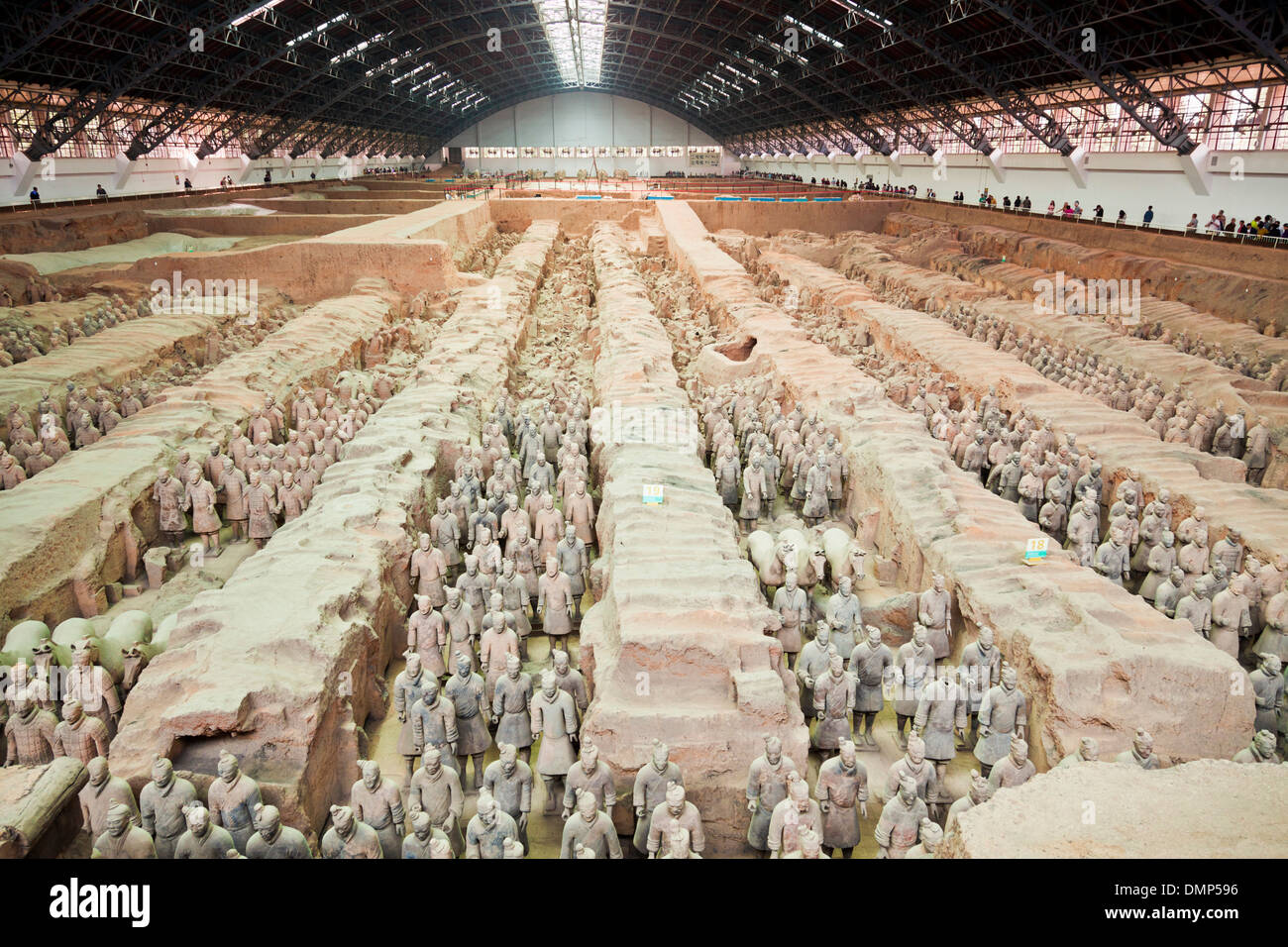 Inside the museum of the Terracotta Warriors Army Pit Number 1, Xian, Shaanxi Province, PRC, People's Republic of China, Asia - Stock Image
