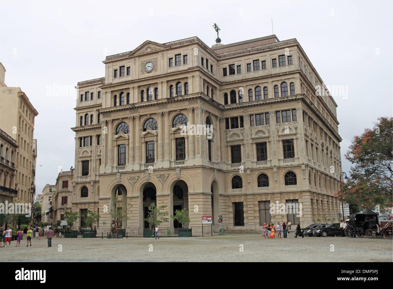 Lonja del Comercio (former Stock Market), Plaza de San Francisco, Old Havana (La Habana Vieja), Cuba, Caribbean Stock Photo
