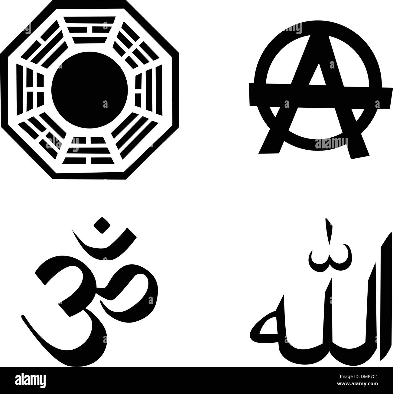 the vector religion symbol set - Stock Vector