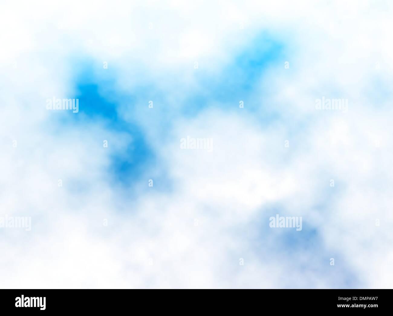 Fluffy cloud detail - Stock Vector