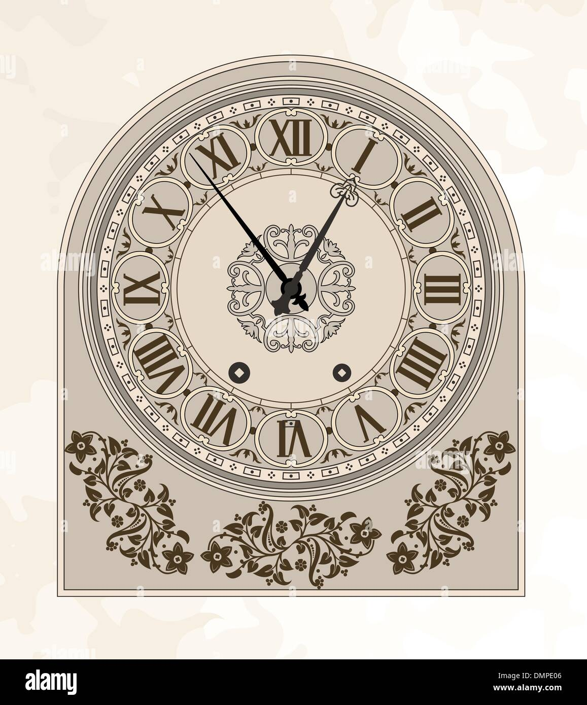 Antique clock - Stock Image