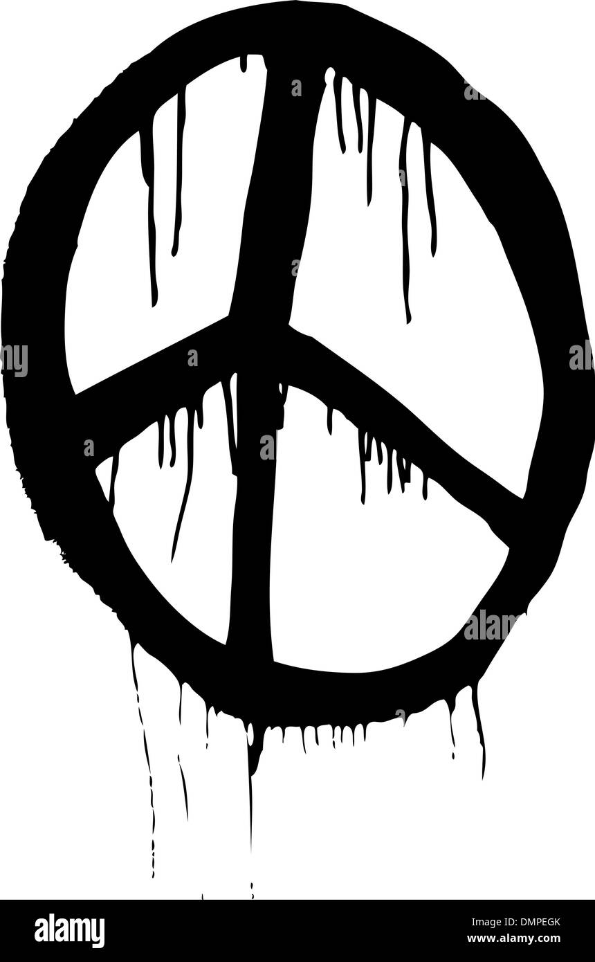 Peace Symbol Black And White Stock Photos Images Alamy