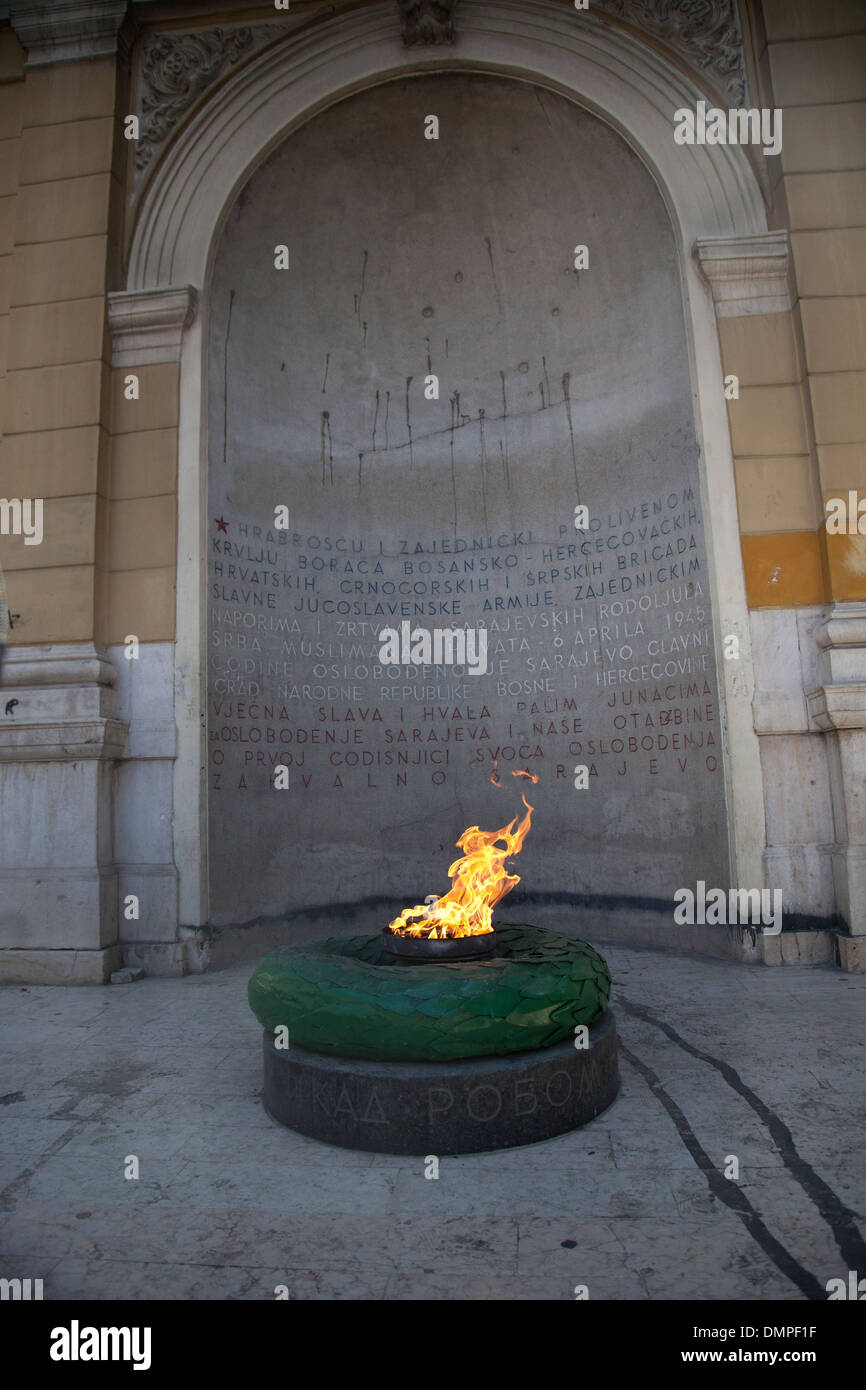 Eternal Flame of Remembrance - Stock Image