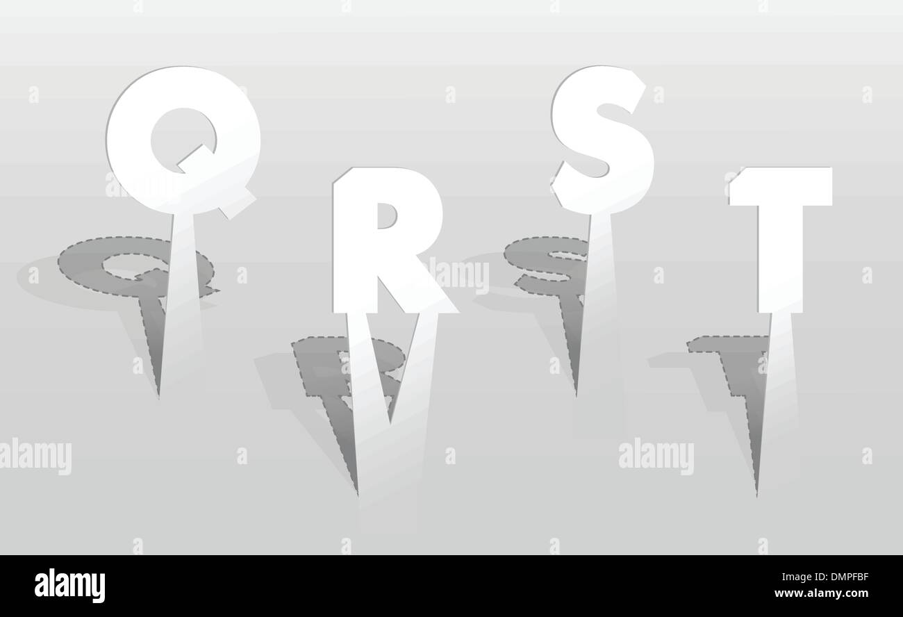 QRST w Stock Image S R Vector