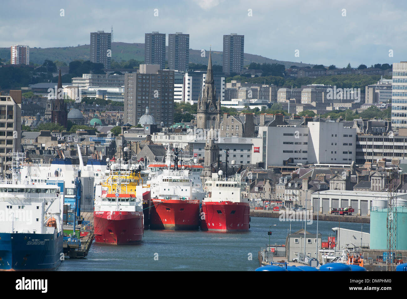 aberdeen north sea oil industry offshore supply - Stock Image