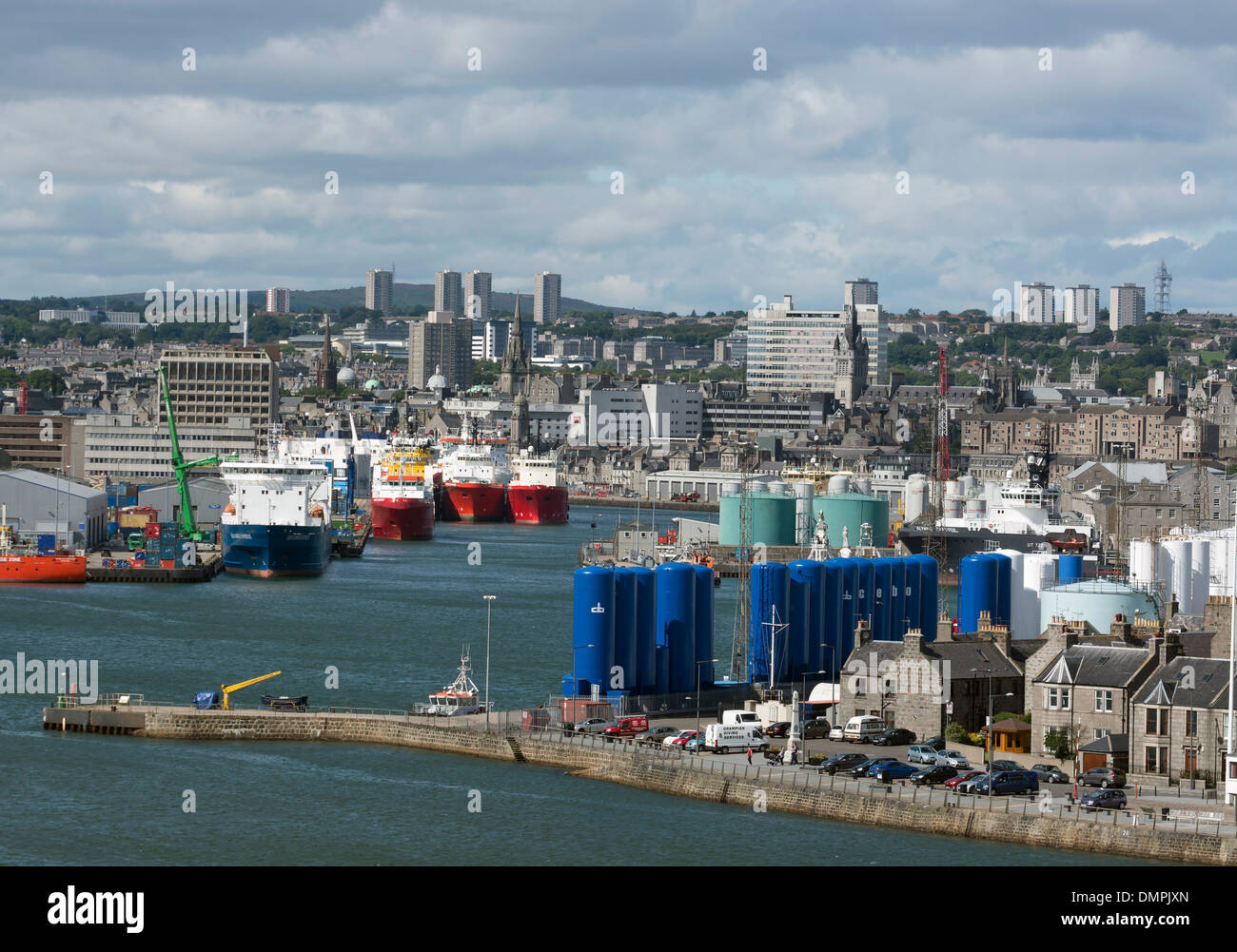aberdeen  north sea oil offshore supply harbour - Stock Image