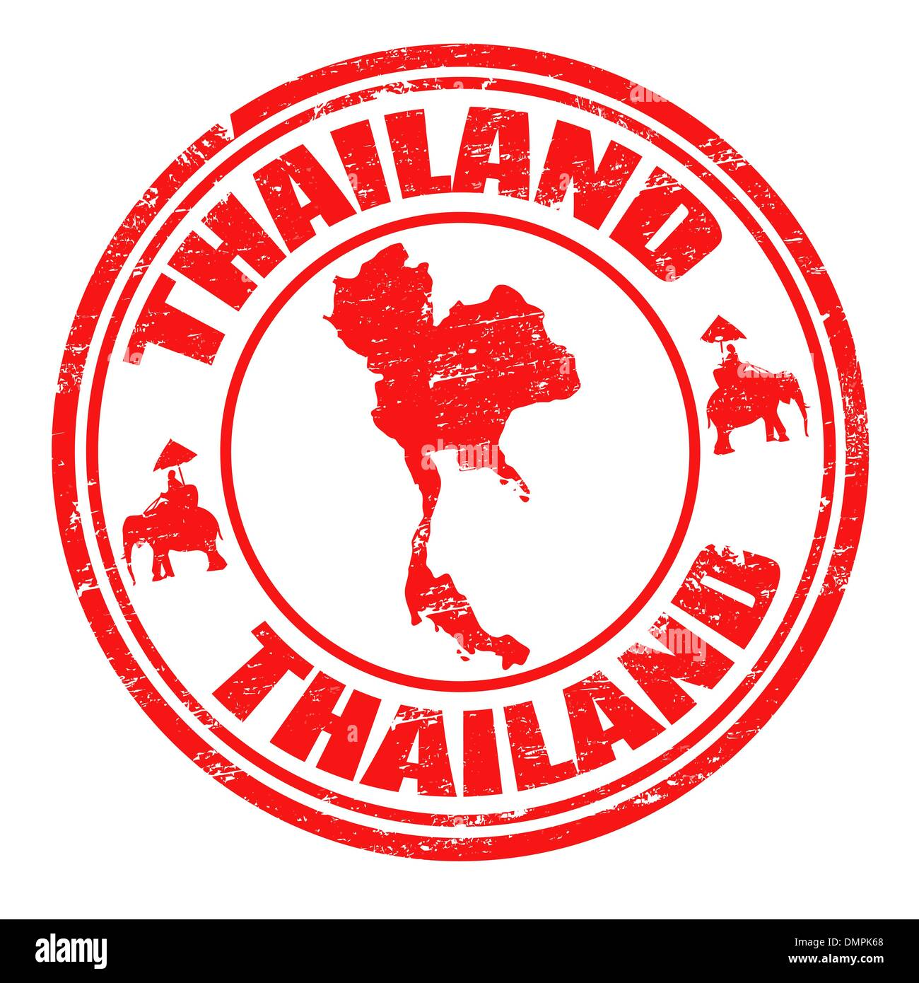 Thailand stamp - Stock Image