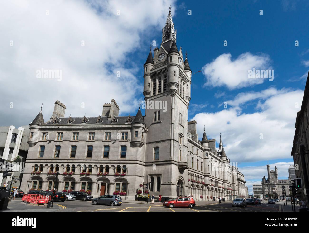 aberdeen granite city townhouse union street - Stock Image
