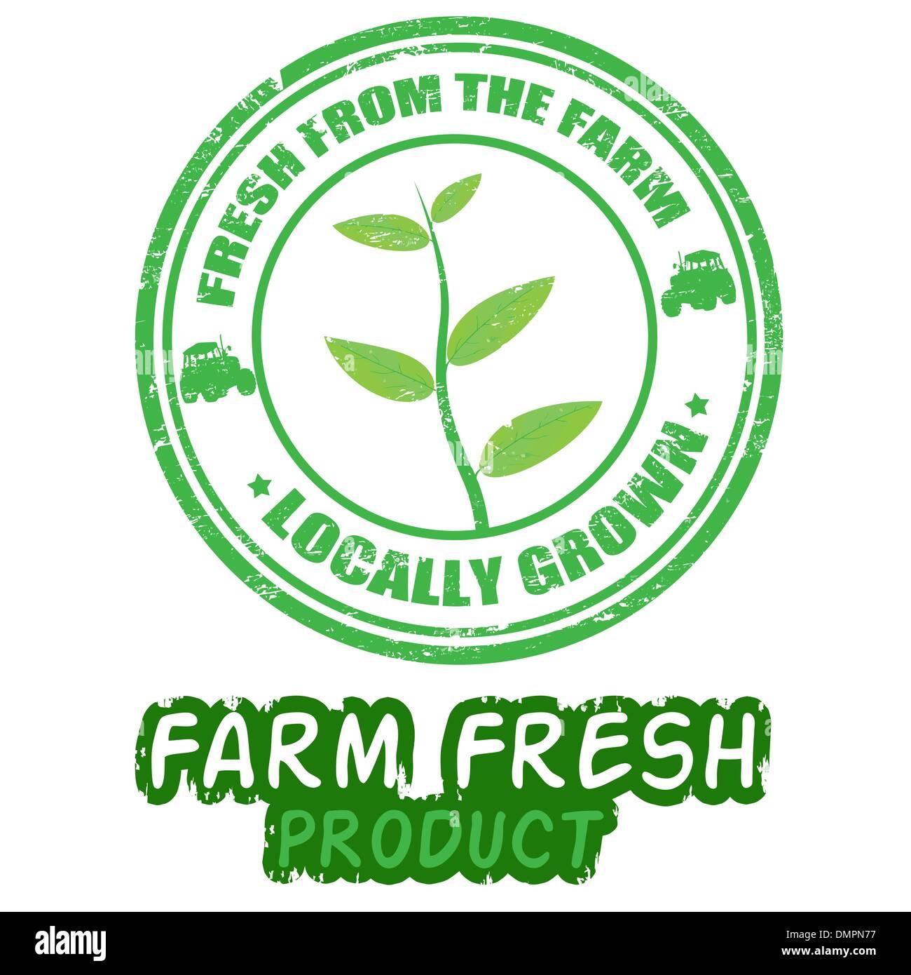Farm fresh stamps - Stock Vector