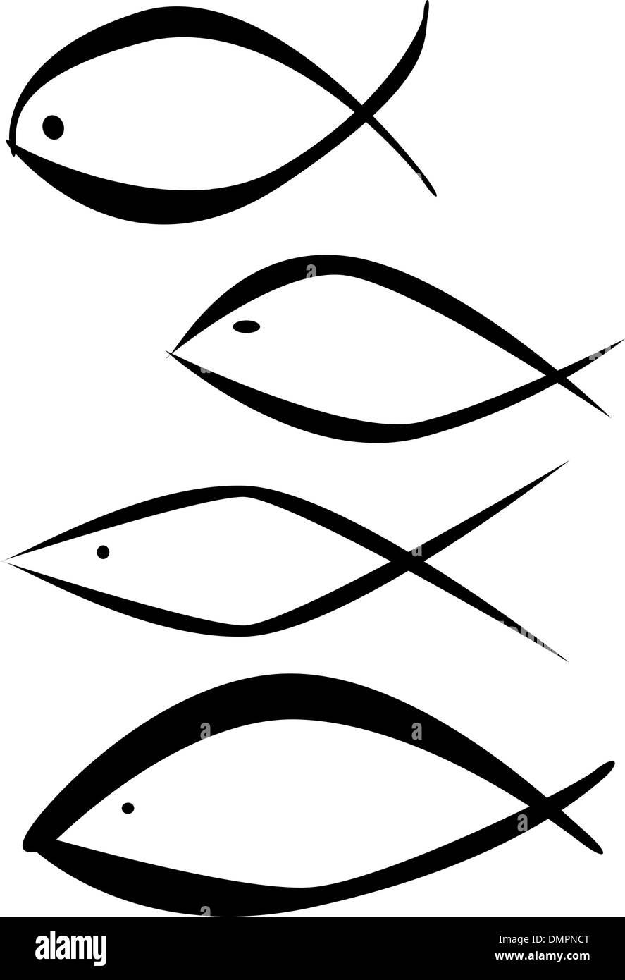Christian Fish Symbol Icon Isolated Stock Photos Christian Fish