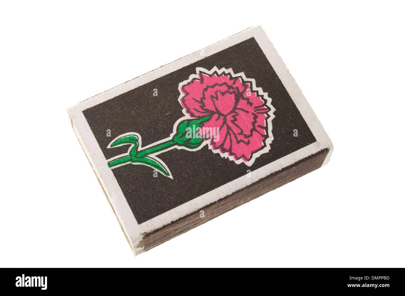 matchbox on a white background - Stock Image