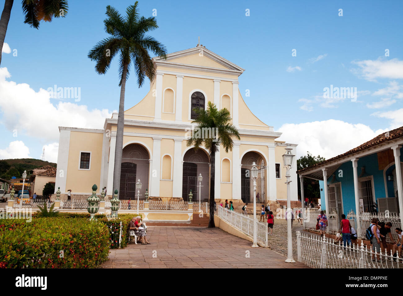 The Church of the Holy Trinity, Plaza Mayor, Trinidad town centre, UNESCO world heritage site, Cuba, Caribbean Latin America - Stock Image