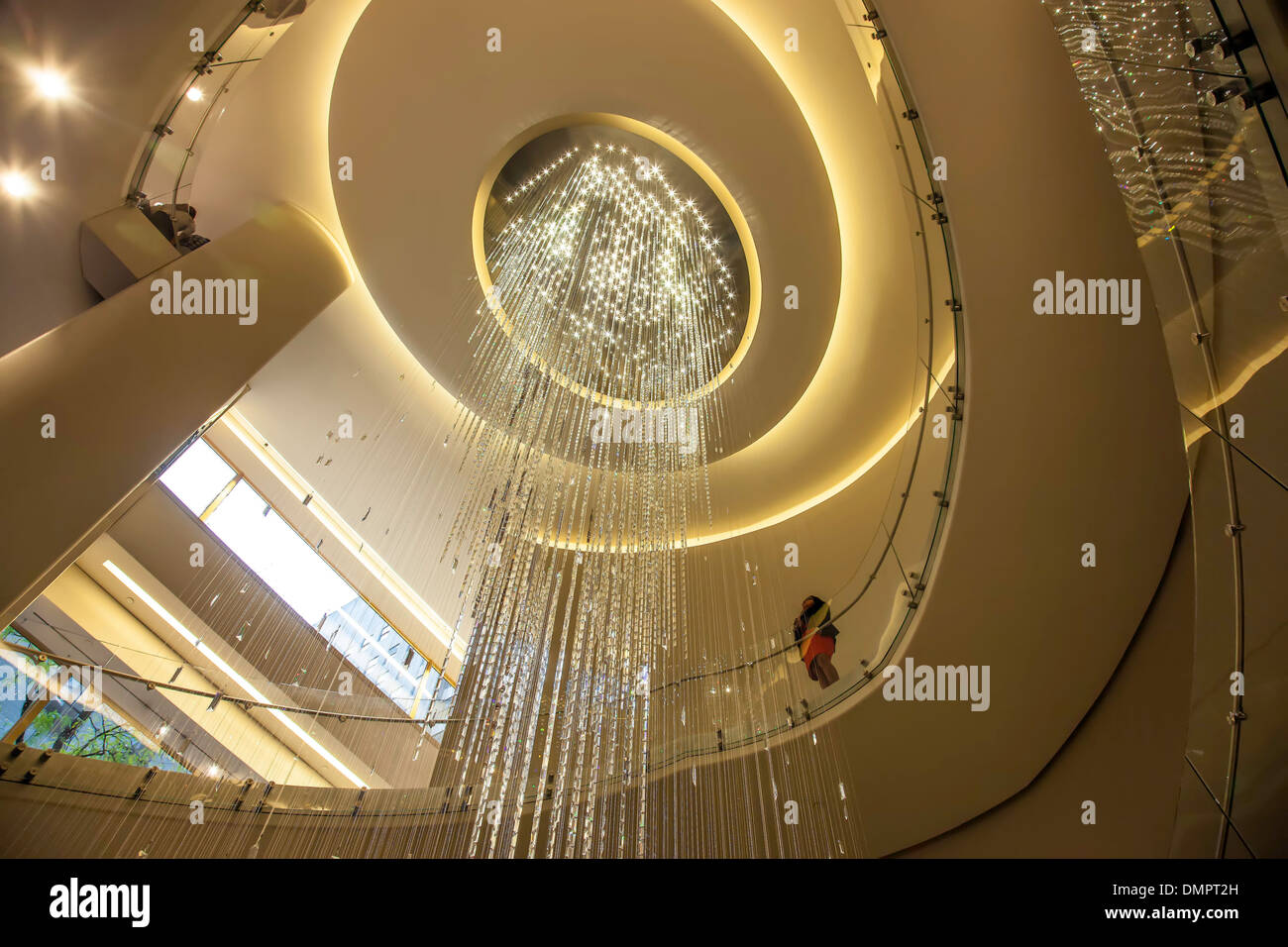 View from the interior lobby  of the Rockefeller Center or `The Rock: in New York City;New York, USA; America - Stock Image