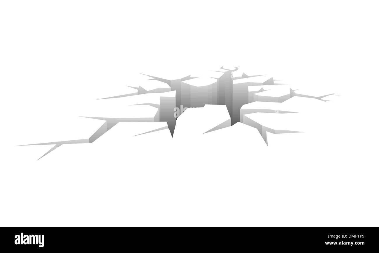 Vector crack - Stock Image