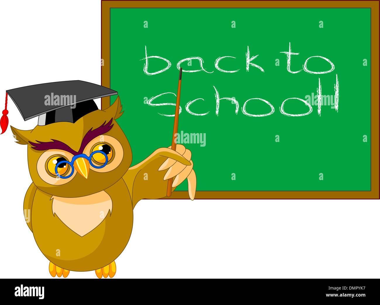 Cartoon Wise Owl Stock Vector