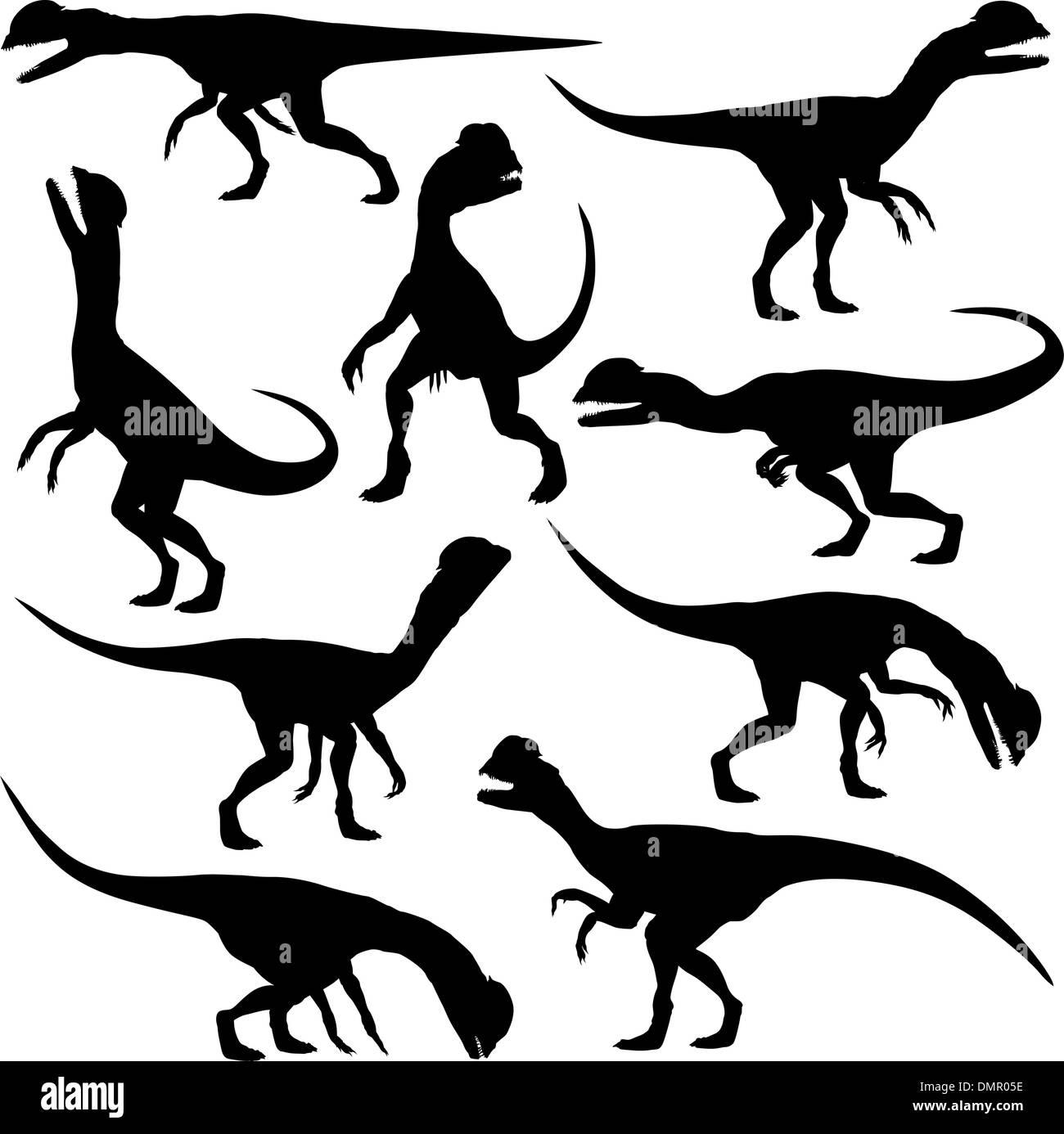 Dilophosaurus dinosaur - Stock Image