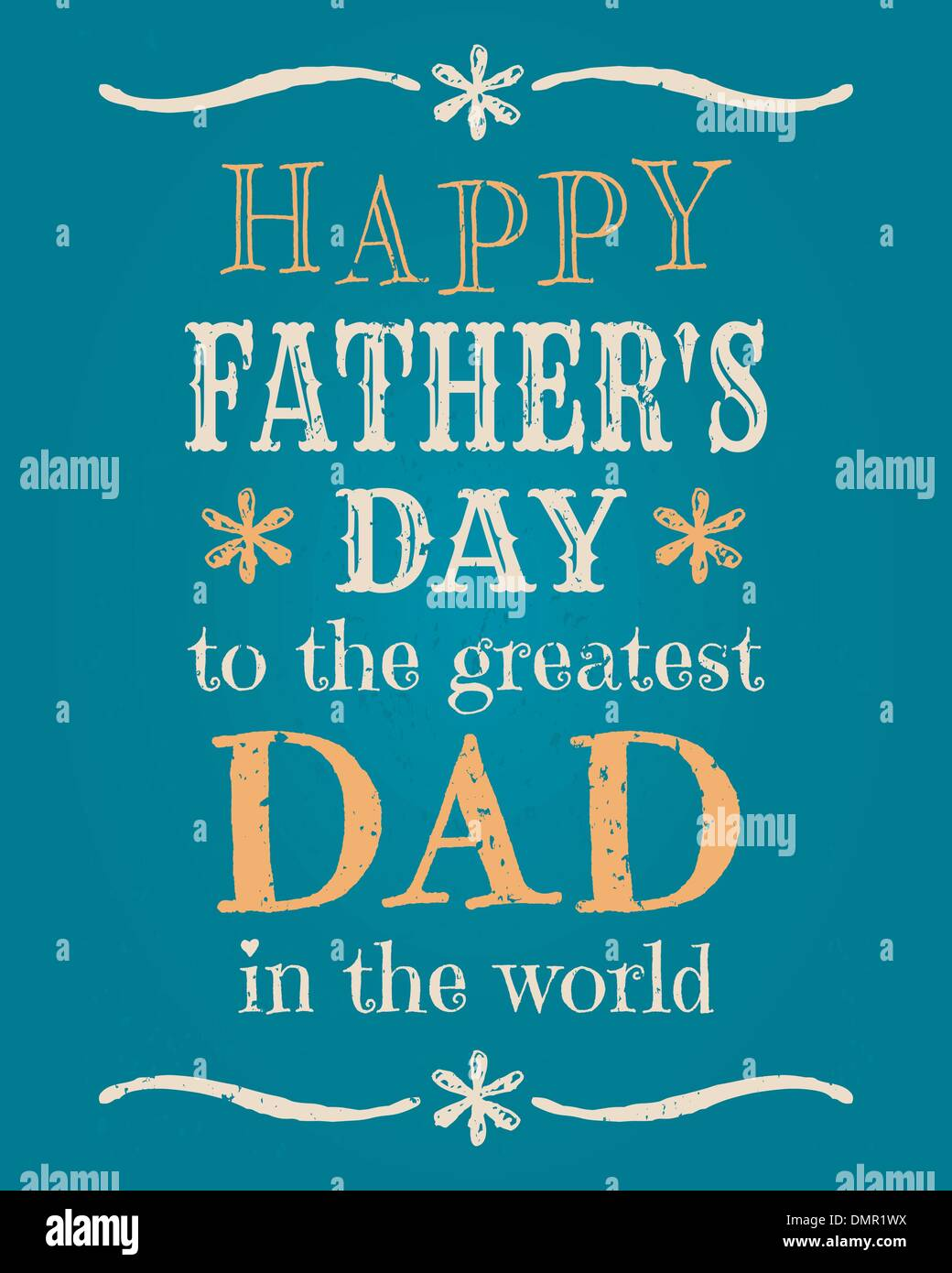 Father's Day Card - Stock Image