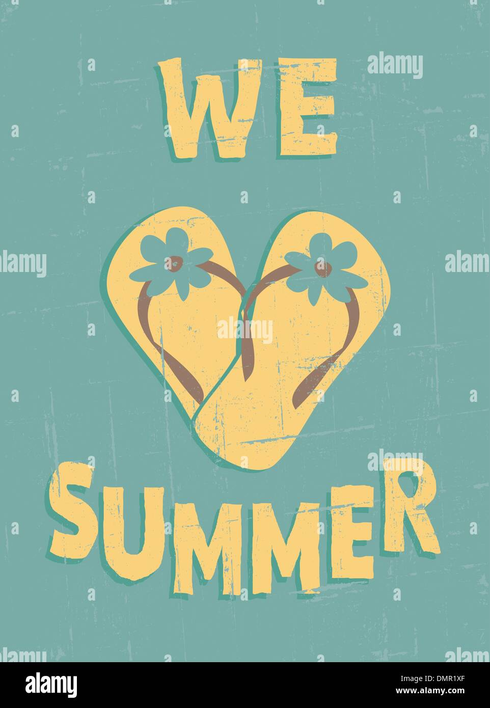 Vintage Summer Poster Stock Vector