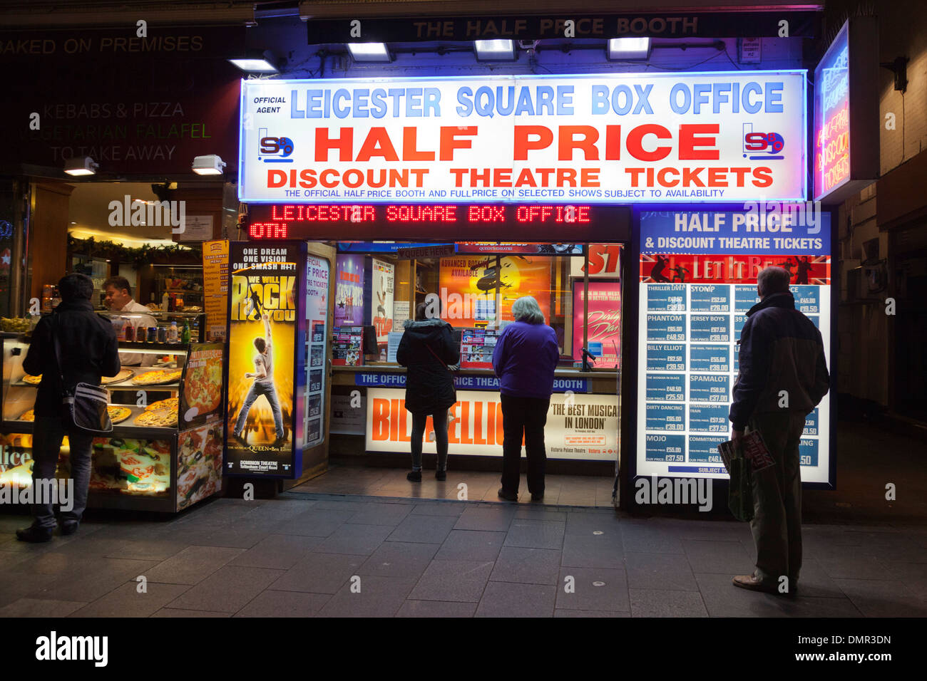 Leicester Square Box Office, Half Price Discount Theatre Tickets, London, England, United Kingdom Stock Photo
